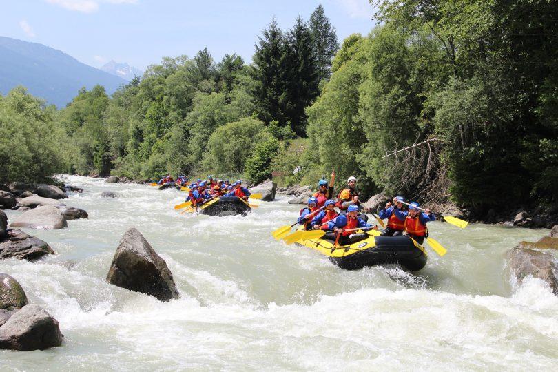 Rafting nelle rapide del fiume Noce in Trentino