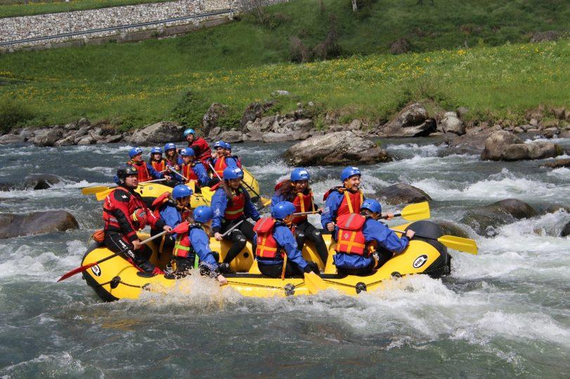 raftin sul fiume Noce
