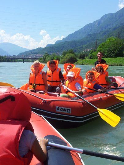 Soft Rafting sull'Adige