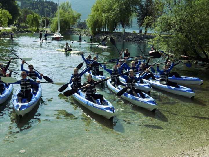 kayak group Riva del Garda
