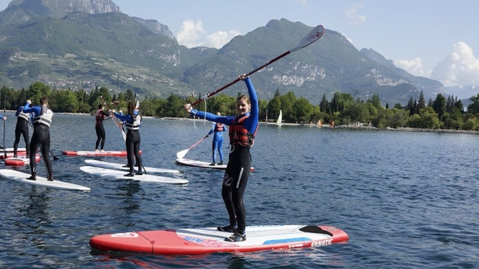 stand up paddle group Lake Garda
